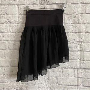 ABERCROMBIE & FITCH Black Asymmetrical Skirt